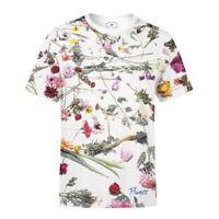 Prince Purple Rain Floral Men's T-Shirt Music Tee Short Sleeve White AUTHENTIC