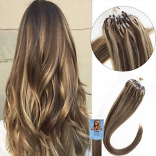 Silicone Micro Ring Bead Loop Tip Double Drawn Real Remy Human Hair Extensions1g