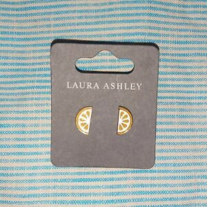 Laura Ashley - Orange Slice Yellow Gold Earrings