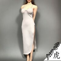 1:6 Scale ace Female figure parts A811 Grey - Peral Sexy Long Tail Gown