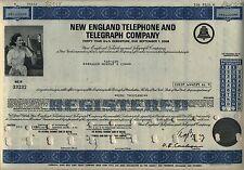 New England Telephone & Telegraph Company Bond Stock Certificate