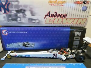 2002 ACTION NHRA ANDREW COWIN NY YANKEES 1:24 DIECAST TOP FUEL DRAGSTER (MINT)