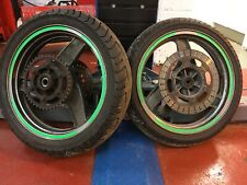 Kawasaki Gpz 500 96 03 Front And Rear Wheels With Tyres Brake Disc's & Sprocket