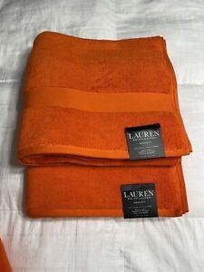 Ralph Lauren Wescott Summer Ora 2 Two Piece Bathroom Towel Set 100% Cotton NWT