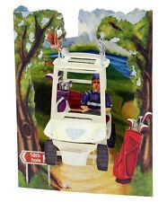 3D Swing Cards by Santoro - GOLF BUGGY - SG-SC-152