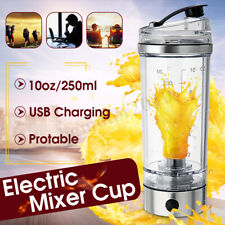US 250ML Portable Protein Shaker Tornado Mixer HandHeld USB Charging Bottle Cup