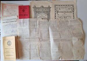 Royal antediluvian order of buffaloes ephemera inc manual, cert, service Script