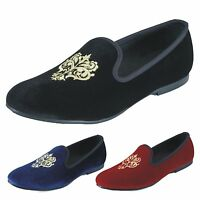 Handmade Men Velvet Slippers Loafers Slip On Dress Shoes Smoking Men's Flats New