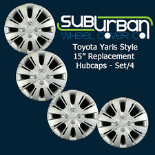 """'12-15 Toyota Yaris Style # 509-15S 15"""" Replacement Hubcaps NEW LOW COST SET 4"""