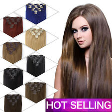 7pcs BEST Selling Clip In Remy Human Hair Extensions 16clips Full Head 18Inch