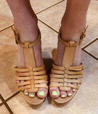 Well Worn Sandals - Franco Sarto Tan Leather Heels - Women's 8