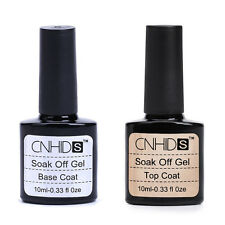2PC New Base Coat And Top Coat UV Soak Off Gel Long Lasting Polish Nail Gel 10ML