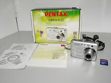 "Pentax Optio E20 Digital Camera Silver 6MP 3x Optical Zoom & SD Card All ""GWO"""