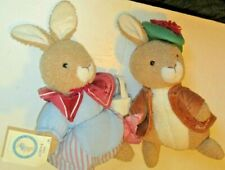 Beatrix Potter Peter Rabbit Plush lot Benjamin Bunny & Mrs Rabbit dolls, Eden