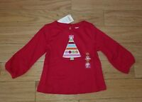 Girls GYMBOREE COZY CUTIE Red Christmas Tree Shirt Top Sz 12-18 NWT Holiday