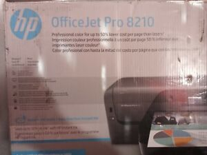 HP OfficeJet Pro 8210 Wireless Color Printer D9L64A, Open box No ink