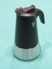 New without Box Pezzetti 6 Cup Stovetop Espresso Maker Black & Stainless Steel