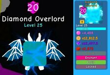 Bubble Gum Simulator: 1x Diamond Overlord Limited Max Level & Enchant 20