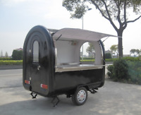 Custom Food Vending Cart Any Color w Tow Hitch-Stainless Steel Mobile Food Truck