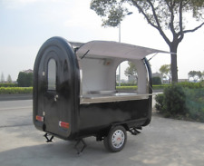 Food Vending Cart Any Color w Tow Hitch - Stainless Steel Food Truck Mobile Food