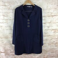 Soft Surroundings Women's Blue Take Two Thermal Waffle Knit Tunic Medium