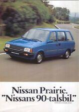 Nissan Datsun Prairie 1.5 1983-84 Original Swedish Sales Brochure