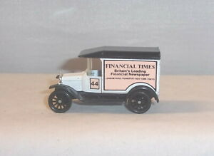 "MJ7  Matchbox - L.E. - MB44 -1921 Model ""T""Ford- White - Financial Times -No Box"