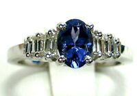 Rare Tanzanite Ring 18K White gold Solitaire GIA Appraised Heirloom AAAA $6,594