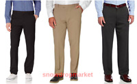 NWT!! IZOD Men's Performance Stretch Straight Fit Flat Front Chino Pant, Variety