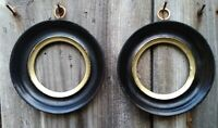 Pair of VICTORIAN style EBONISED Circular Picture Frames
