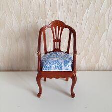 1:12 Scale Dollhouse Miniature Furniture Handcrafted Harp Armchair Walnut