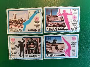 Ajman state ( Emirate of Ajman ) MUNICH 1972 SET 4 STAMPS