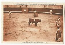 Bullfighting/Corrida de Toros - Preparacion del toro para... - Vintage postcard