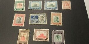 JORDAN - 10 Stamps - one duplicate - older stamps - some mint, some used, hinged