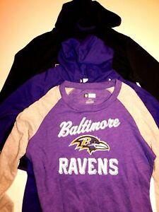 Baltimore Ravens Women's LS Sweat Shirt, hoodie, Sm, Md