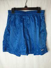 Rare NIKE Vintage Boxing Shorts Mens XL Extra Large ROYAL Blue Drawstring Shine