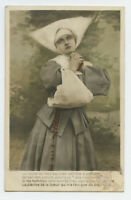c 1910 Catholic Glamor Pretty YOUNG NUN Beauty tinted photo postcard