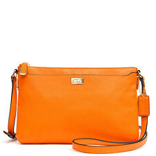 NWT Coach Madison New Swingpack in Leather 49992 Light Gold/Bright Mandarin