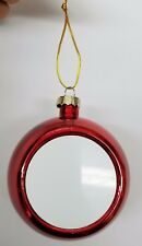 Personalized Photo Baubles Christmas Tree Hanging Decoration.