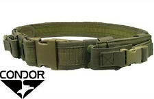 CONDOR Nylon Tactical Belt w/2 Pistol Mag Pouches tb OLIVE DRAB OD Green