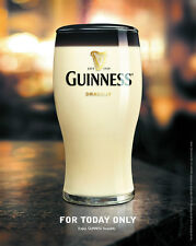 """GUINNESS """"FOR TODAY ONLY"""" VERY RARE POSTER"""