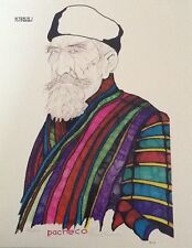 "Limited Edition, ""Rabbi"" Ferdie Pacheco Lithograph Hand Signed"