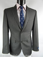 AQUASCUTUM PRITCHARD GREY STRIPED SUIT 36 R RRP £750