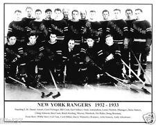1932-1933 NEW YORK RANGERS STANLEY CUP CHAMPIONS 8X10 TEAM PHOTO