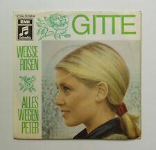"""7"""" Gitte  Weisse Rosen /Alles wegen Peter Columbia 1969"""