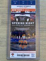 Memphis Grizzlies @ New York Knicks 10/29/2016 NBA Ticket Stub Home Opener!