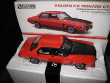 CLASSIC 1/18 HOLDEN HX MONARO GTS 4dr MANDARIN RED WITH BLACK STRIPES  #18660