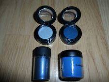 MAC WHOLESALE LOT 2 PIGMENT + 2 EYE SHADOW BLUE / LIGHT BLUE NWOB F/S MISS LABEL