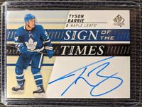 2019-20 SP Authentic Sign of the Times Auto TYSON BARRIE #SOTT-BA - Maple Leafs