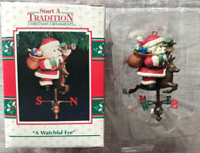 Enesco A Watchful Eye Ornament Santa On Weather  Vane 1992 NIB